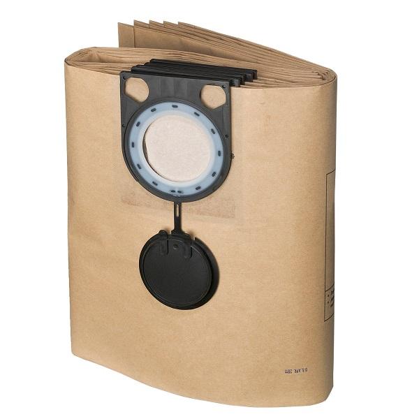 Принадлежности к промышленным пылесосам ИНТЕРСКОЛ Бумажный фильтрующий мешок для ПУ-45/1400 (5 шт.)